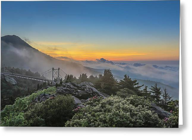 Grandfather Mountain Sunrise Greeting Card