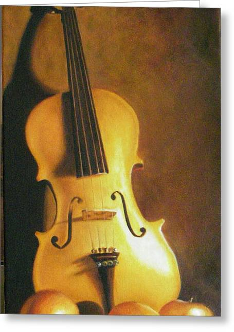 Grandfathers Fiddle Greeting Card