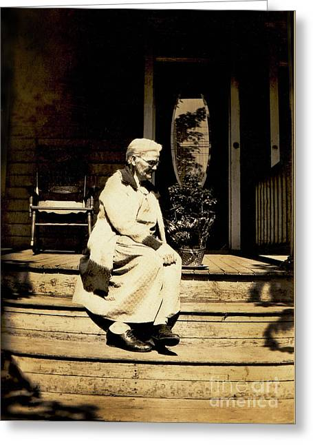 Greeting Card featuring the photograph Grandma Jennie by Paul W Faust - Impressions of Light