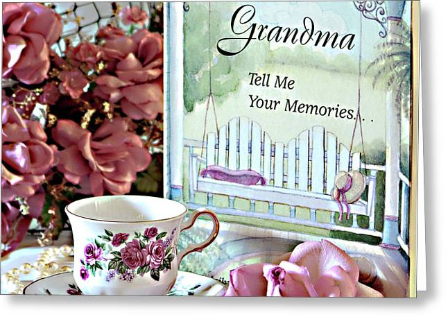 Greeting Card featuring the photograph Grandma Tell Me Your Memories... by Sherry Hallemeier