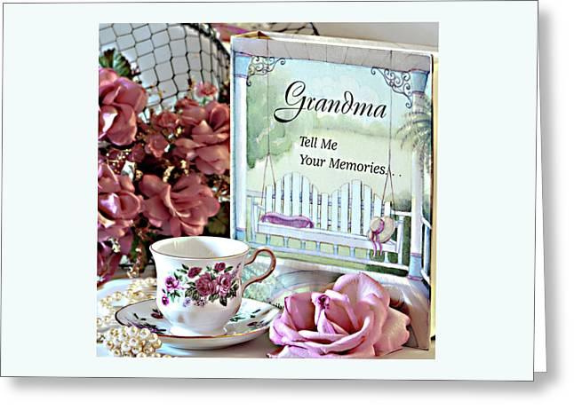 Grandma Tell Me Your Memories... Greeting Card