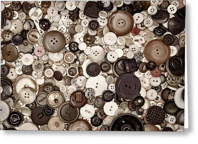 Grandmas Buttons Greeting Card by Scott Norris