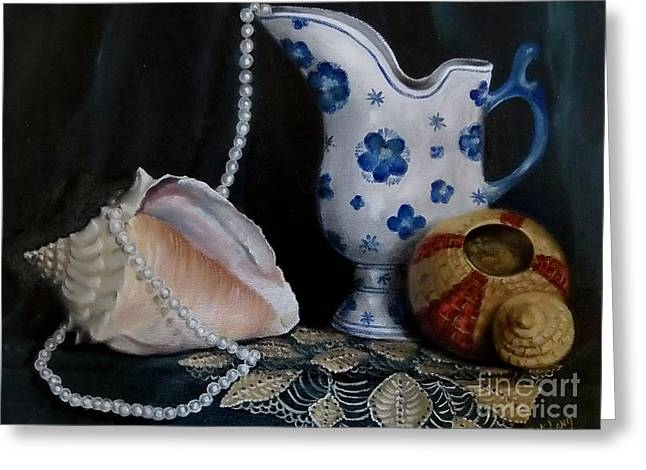 Grandma's Collection Greeting Card by Patricia Lang