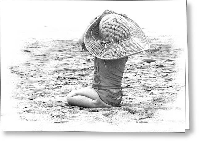 Grandma's Hat Greeting Card by Kerri Ligatich