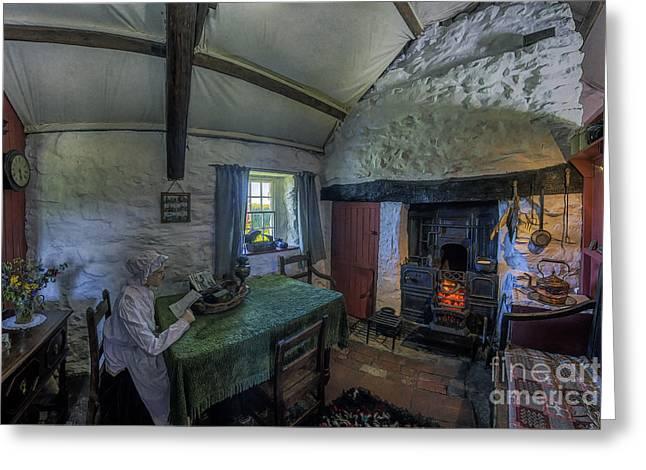 Grandmas Home Greeting Card by Ian Mitchell