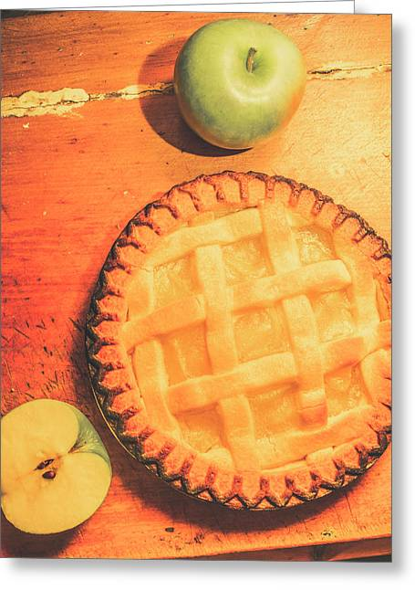Grandmas Homemade Apple Tart Greeting Card by Jorgo Photography - Wall Art Gallery