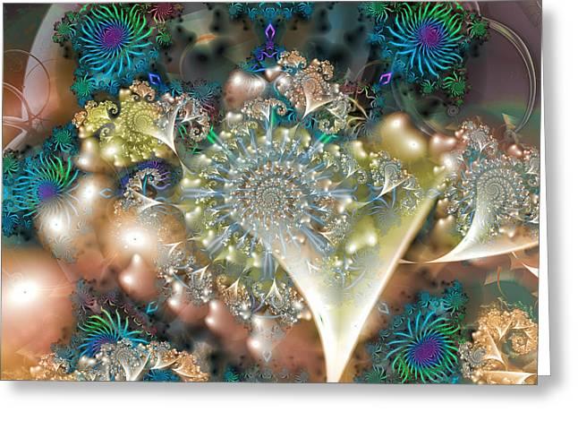Grandma's Jewelry Box Greeting Card by Mary Almond