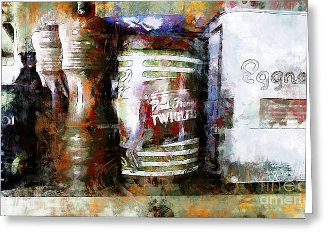 Greeting Card featuring the photograph Grandma's Kitchen Tins by Claire Bull