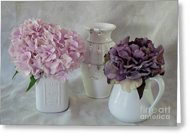 Greeting Card featuring the photograph Grandmother's Vanity Top by Sherry Hallemeier