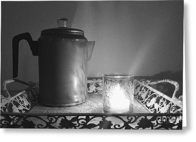 Grandmothers Vintage Coffee Pot Greeting Card