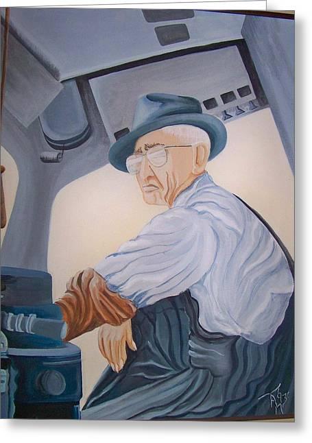 Grandpa Albee Greeting Card by Tammera Malicki-Wong