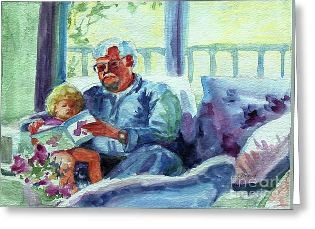 Grandpa Reading Greeting Card