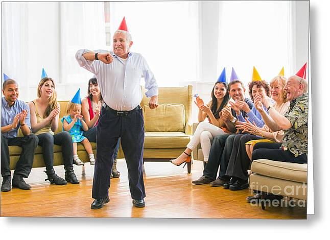 Grandpa's Birthday Dance Greeting Card by Diane Diederich