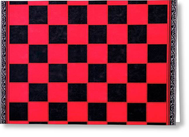 Greeting Card featuring the photograph Grandpa's Checkerboard by Jeff Phillippi