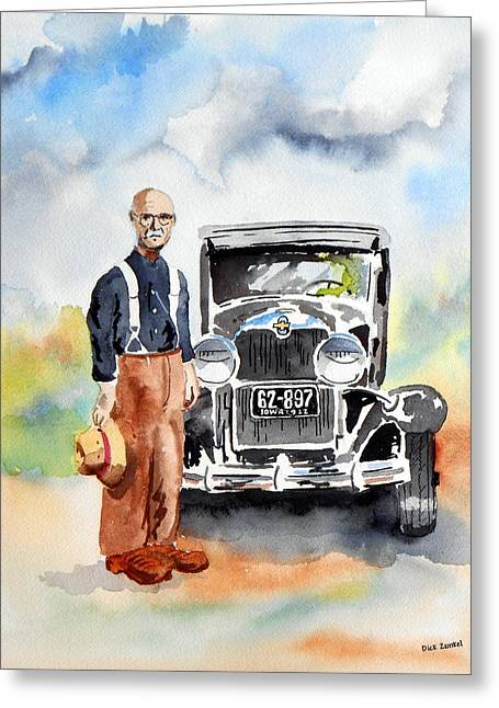 Grandpa's Chevy Greeting Card