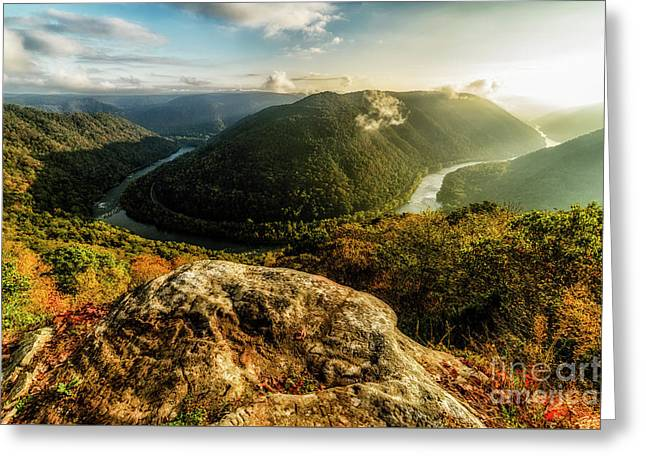 Grandview Morning New River Gorge Greeting Card