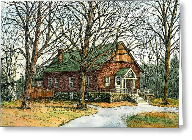 Syrups Greeting Cards - Grange Hall No.44 Greeting Card by Elaine Farmer