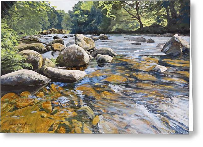 Granite Boulders East Okement River Greeting Card