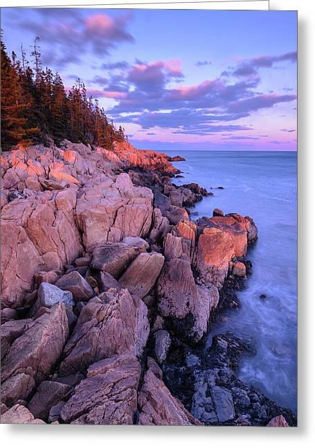 Granite Coastline Greeting Card
