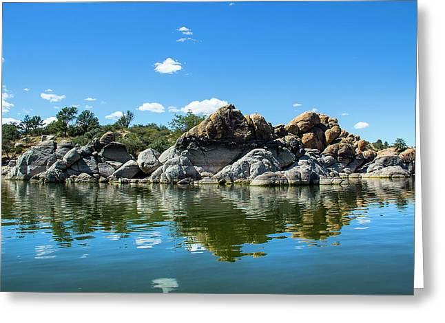 Granite Dells At Watson Lake Greeting Card