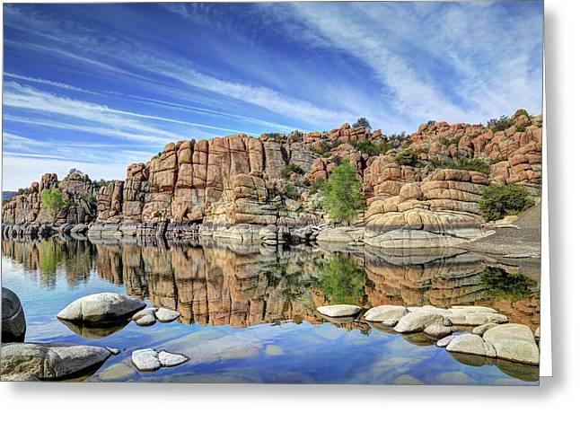 Granite Dells At Watson Lake Greeting Card by Donna Kennedy