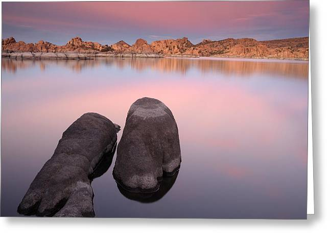 Granite Dells Sunset Greeting Card
