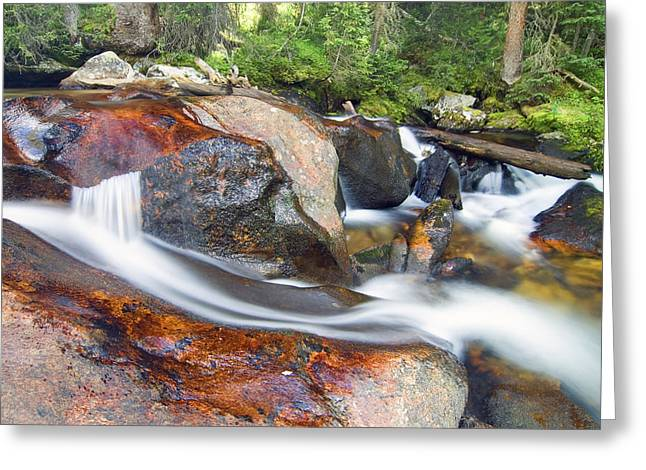 Greeting Card featuring the photograph Granite Falls by Gary Lengyel