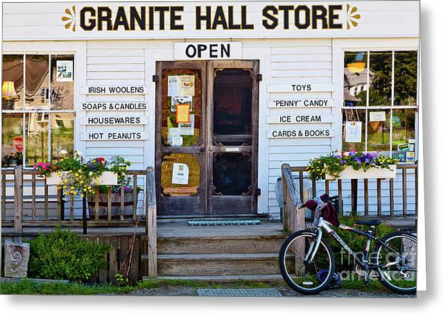 Greeting Card featuring the photograph Granite Hall Store  by Susan Cole Kelly