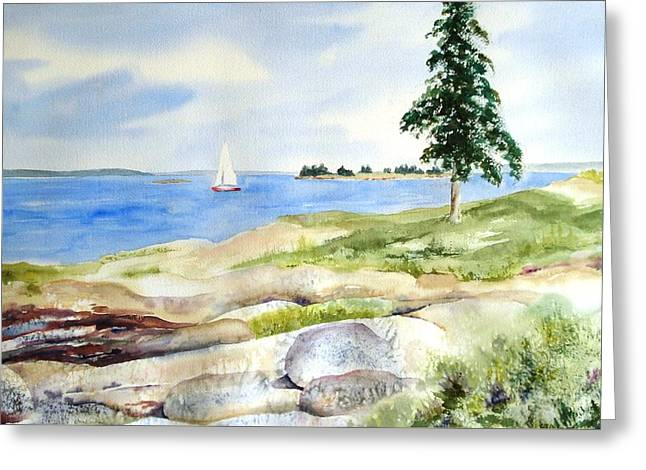 Granite Ledges II Greeting Card