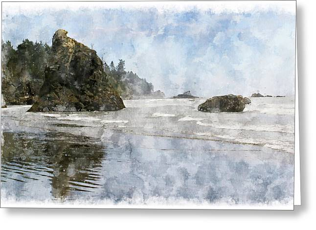 Granite Stacks Olympic Park Greeting Card by Peter J Sucy