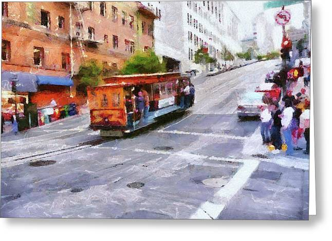 Grant Avenue Intersection Greeting Card