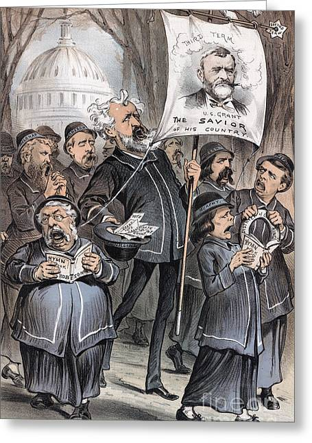 Grant Cartoon, 1880 Greeting Card by Granger