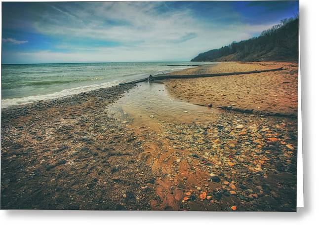 Greeting Card featuring the photograph Grant Park - Lake Michigan Beach by Jennifer Rondinelli Reilly - Fine Art Photography