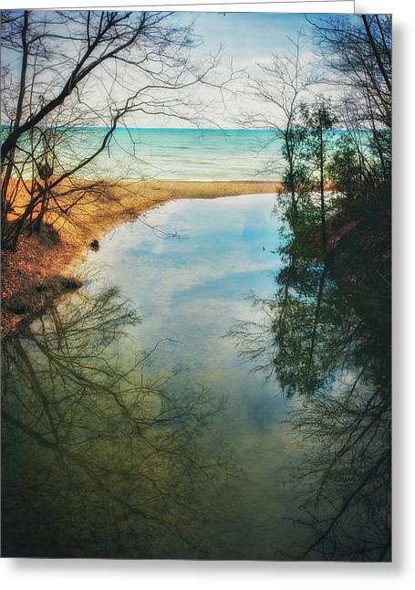 Greeting Card featuring the photograph Grant Park - Lake Michigan Shoreline by Jennifer Rondinelli Reilly - Fine Art Photography