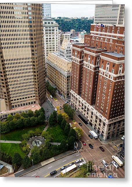 Grant Street As Seen From Usx Tower Pittsburgh Pa Greeting Card