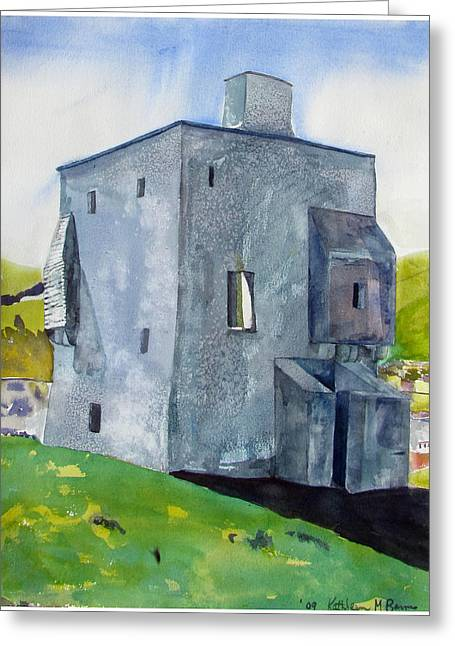 Granuaile's Castle Behind The Hill Greeting Card