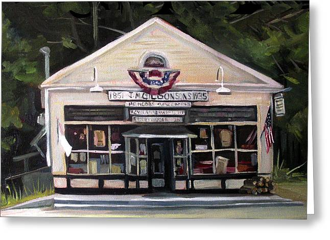 Granville Country Store Front View Greeting Card