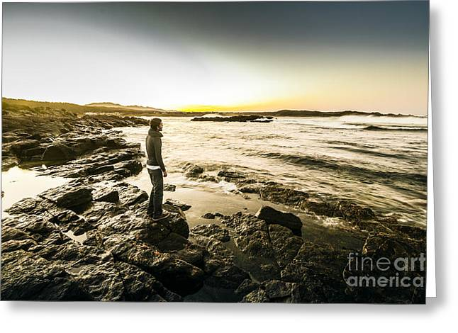Granville Harbour Sunrise Greeting Card by Jorgo Photography - Wall Art Gallery