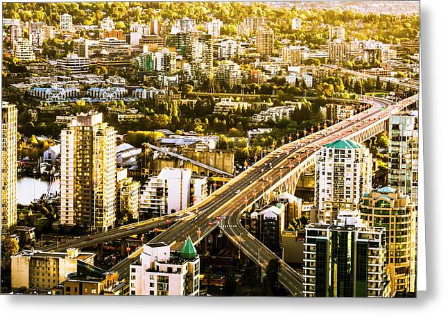 Granville Street Bridge Vancouver British Columbia Greeting Card