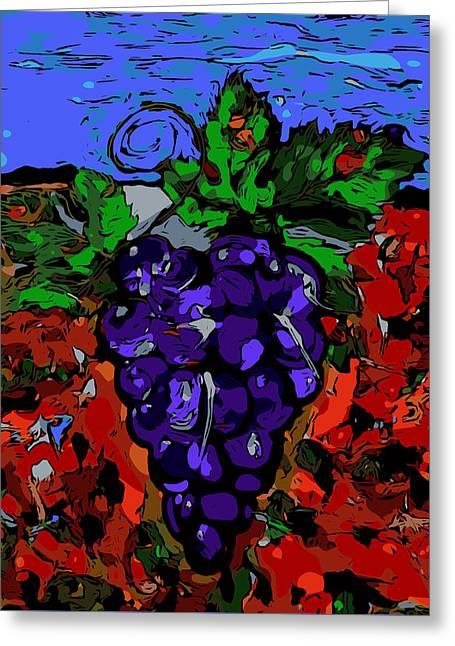 Grape Jazz Digital Greeting Card