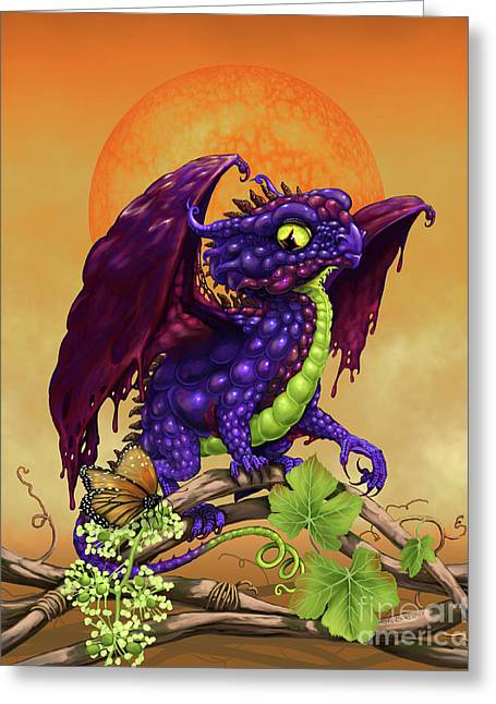 Grape Jelly Dragon Greeting Card