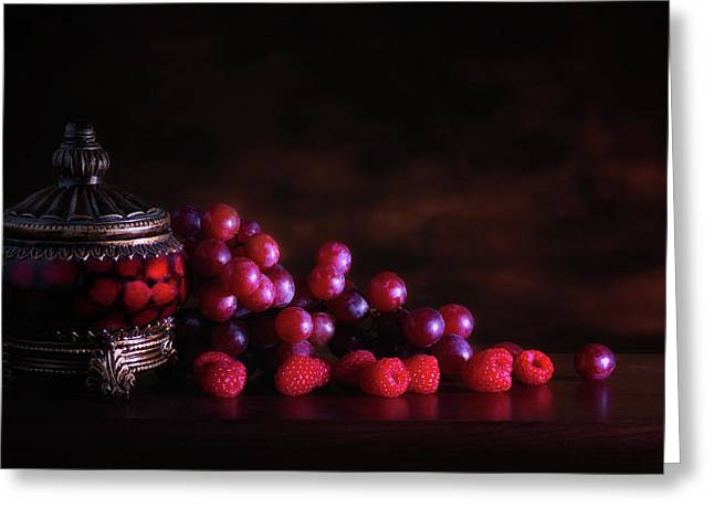 Grape Raspberry Greeting Card by Tom Mc Nemar