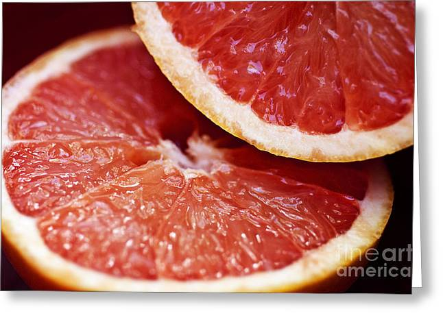 Grapefruit Halves Greeting Card by Ray Laskowitz - Printscapes