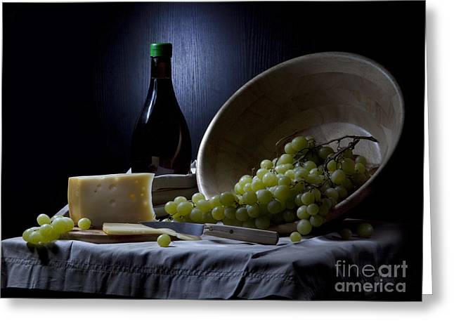 Grapes And Cheese Greeting Card by Irina No