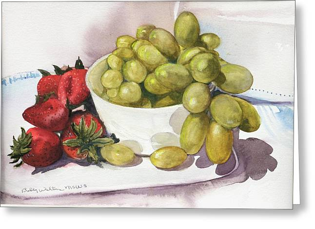 Grapes And Strawberries Greeting Card