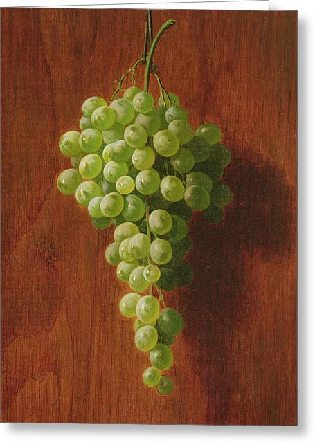 Grapes   Green Greeting Card by Andrew John Henry Way