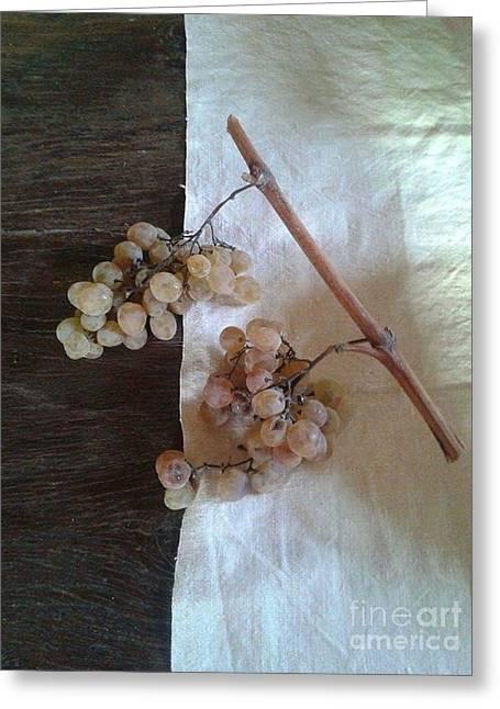 Grapes Greeting Card by Iolanda Schena