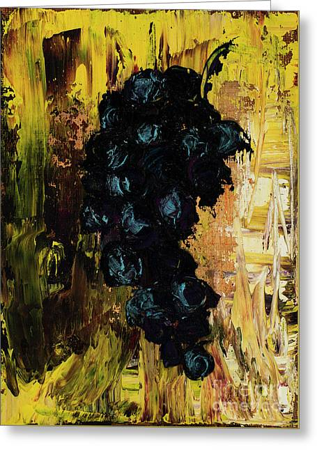 Grapes Greeting Card by Jodi Monahan