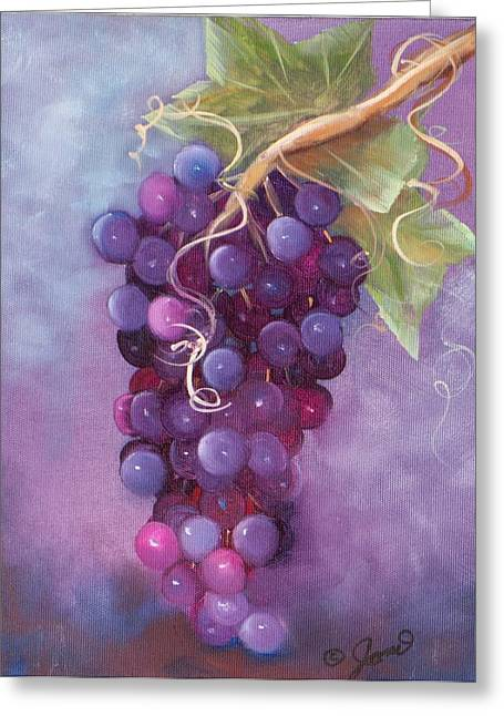 Grapes Greeting Card by Joni McPherson