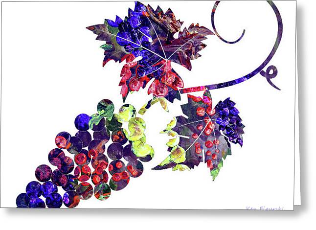 Grapes On The Vine  Greeting Card by Ken Figurski